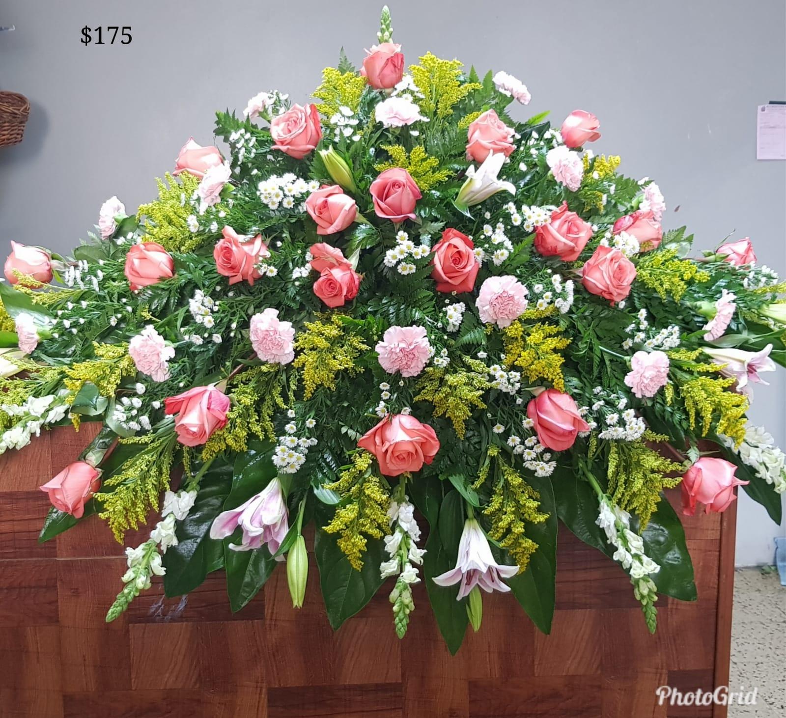 131 Casquet Cover Con Rosas Y Veriedad De Flores